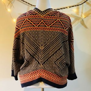 Moth x Anthropologie Jacquard Knit Circle Cardigan